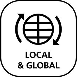 Local & Global value icon