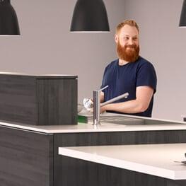 Opbevaringssystemer til køkkener