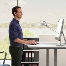 Sistema de mesas de escritório