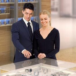 Sistemi per l'arredamento di interni dei negozi