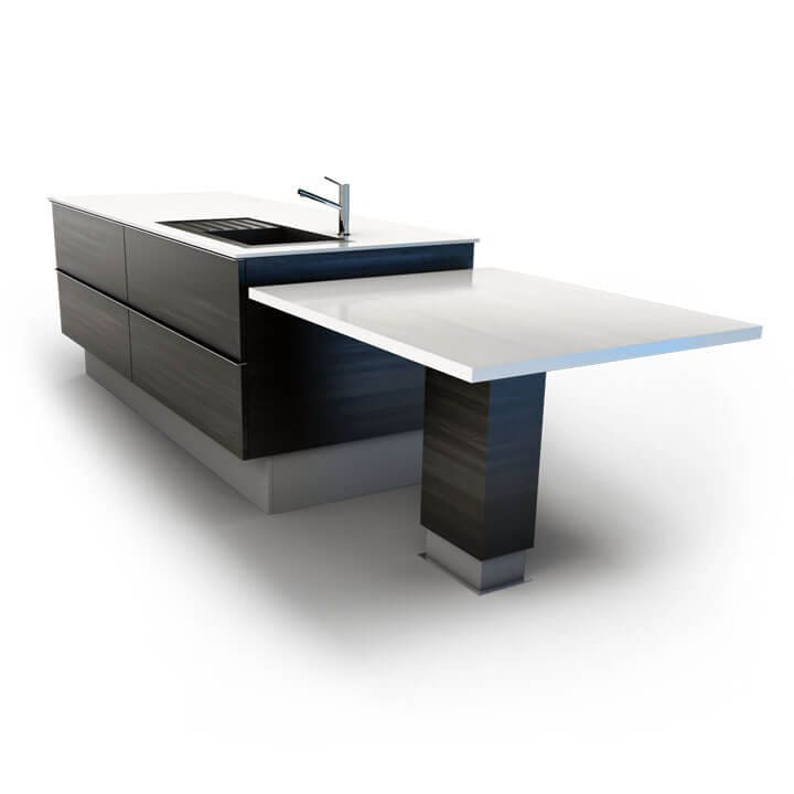 Adjustable Kitchen Side Tables With Electric Linear Actuators