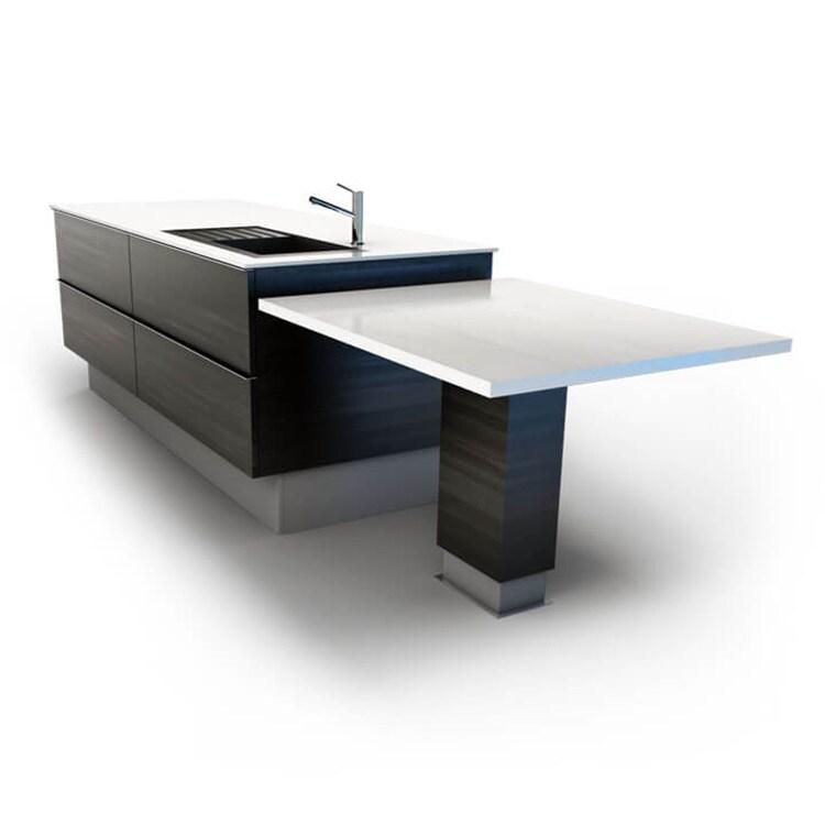 Mesas auxiliares regulables de cocina con actuadores lineales eléctricos