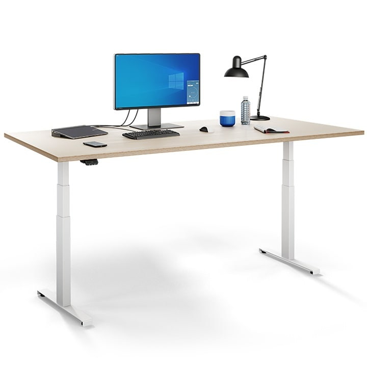 Ergonomic Office Desks With Low Noise Linear Actuator Systems