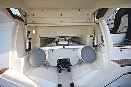 電動化により船の快適性を向上