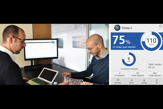 Desk Control (데스크 컨트롤)을 사용하여 브랜드에 건강 추가