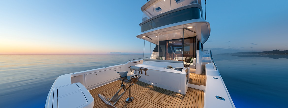 ALFAB window automation solution on a luxury boat using a LINAK Actuator