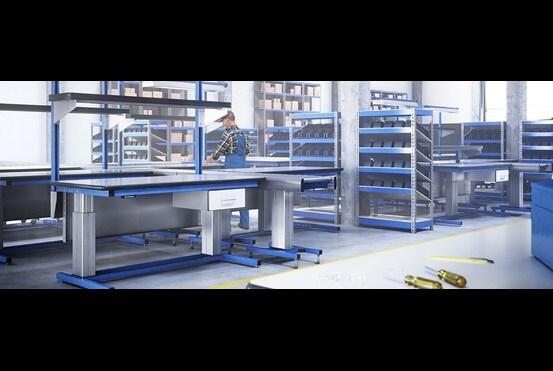 RAU Gmbh: Ajuste elétrico de altura para estações de trabalho industriais