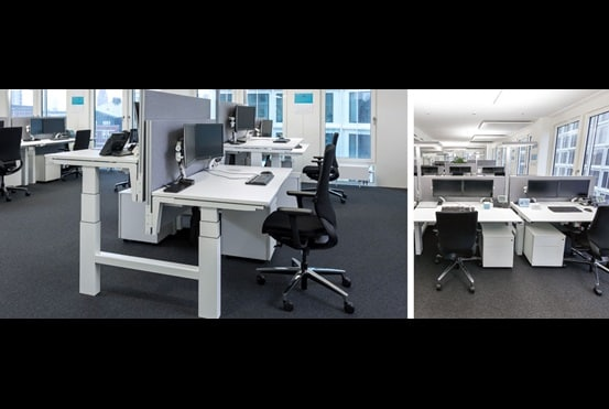 Maersk endorses electric height adjustable desks