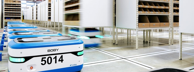 Bobi,Scallog 的移動機器人配有 LINAK 推桿