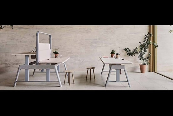 The Sage sit-stand desk and workbench from Benchmark