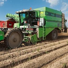 Estudio de caso de cosechadoras regulables y eficientes