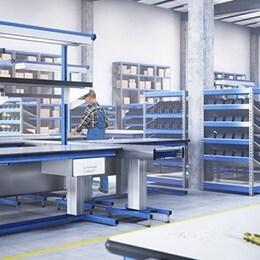 RAU Gmbh: Regolazione in altezza per postazioni di lavoro industriali