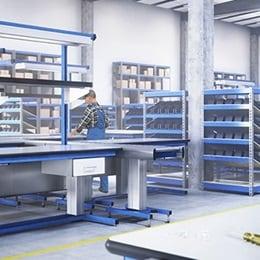 RAU Gmbh: Elektryczna regulacja wysokości w przemysłowych stanowiskach roboczych
