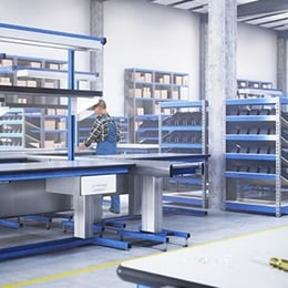 RAU Gmbh: Electrical height adjustment for industrial workstations