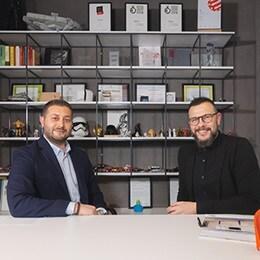 Levent Aytar, LINAK Tyrkey Sales & Ozan Tığlıoğlu, Designer GOA