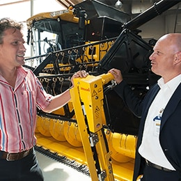 New Holland combine harvester case story