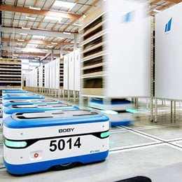 Boby, mobile robot from Scallog features LINAK aktuator