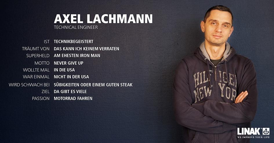 LINAK GmbH - Steckbrief Axel Lachmann