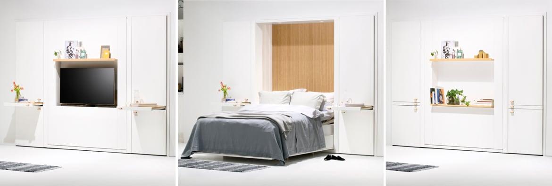 Łóżko w szafie Asante