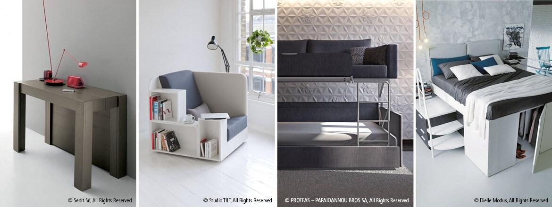 Elektrisk bevegelse av flerfunksjonelle møbler for