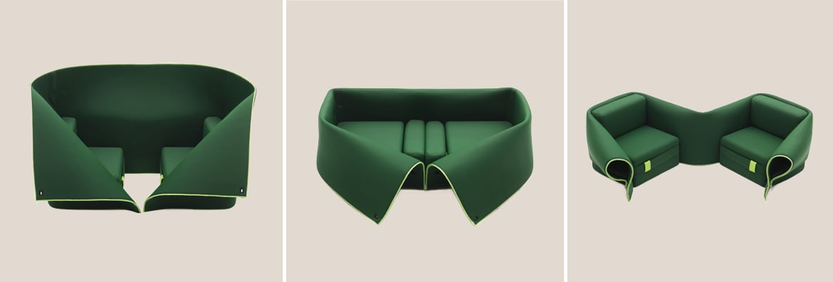 Sosia foldable couch