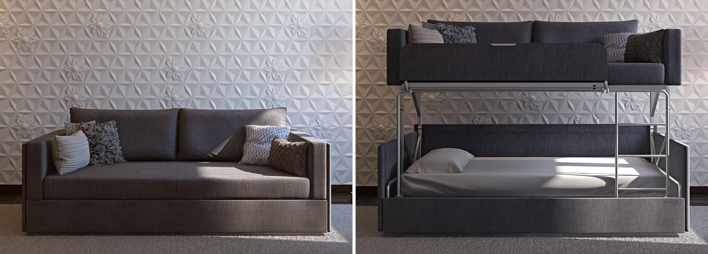 Twinny soffa till våningssäng