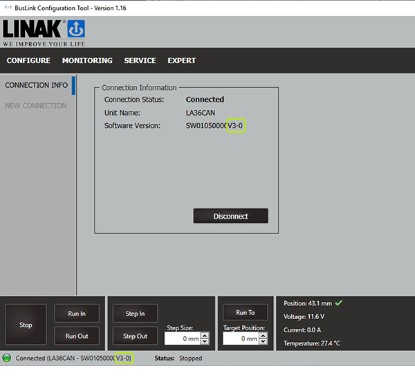 BusLinkバージョン 3.0