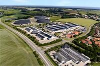 Fotografía aérea de las oficinas centrales de LINAK A/S