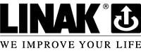 Černobílé logo LINAK