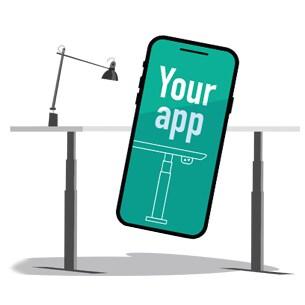 Software Development Kit giver mulighed for at skræddersy din egen app til hæve-/sænkeborde