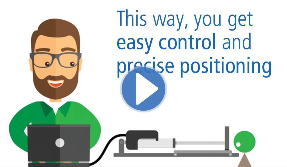 Controllo semplice e posizionamento preciso con gli attuatori IC