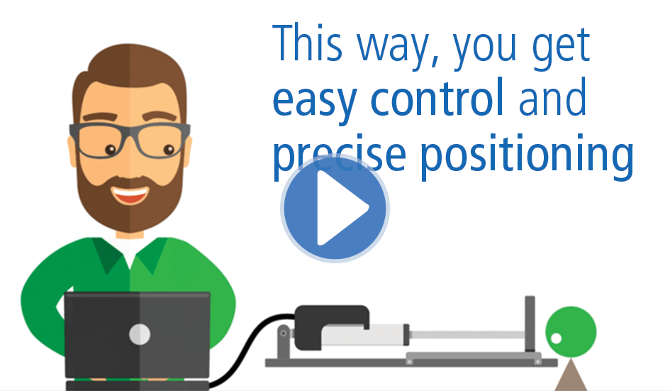 Easy control and precise positioning with IC actuators