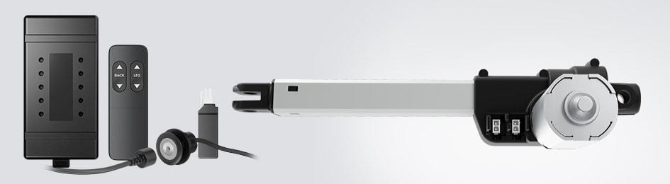 Der LA10 Linearantrieb lässt sich leicht in Ihr Design integrieren