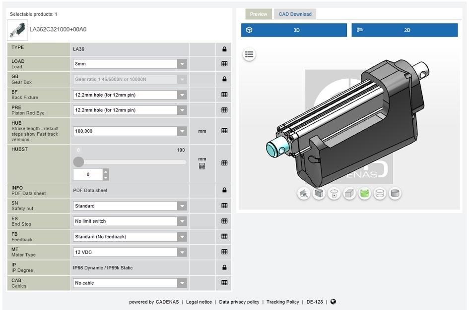 Nový 3D konfigurátor ke zrychlení procesů návrhu