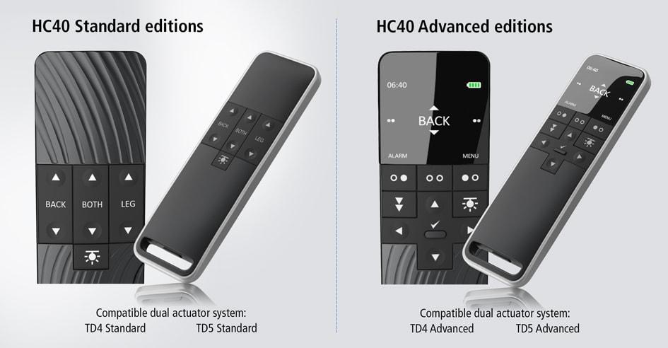 De edities HC40 Standard en Advanced