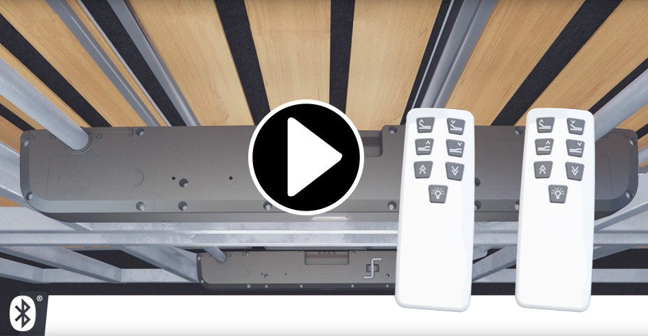 TD4-sänkymoottorin ja Bluetooth®-käsiohjaimen yhdistäminen on nopeaa ja helppoa