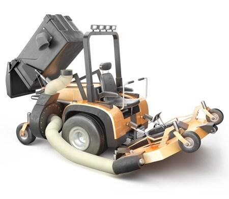 산업용 응용 제품을 위한 전동 액추에이터의 충격 테스트 - 잔디 깍기