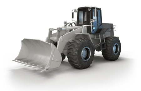 Shock testing electric actuators for industrial applications - Wheel loader