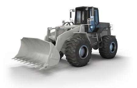 산업용 응용 제품을 위한 전동 액추에이터의 충격 테스트 - 휠 로더 (Wheel loader)