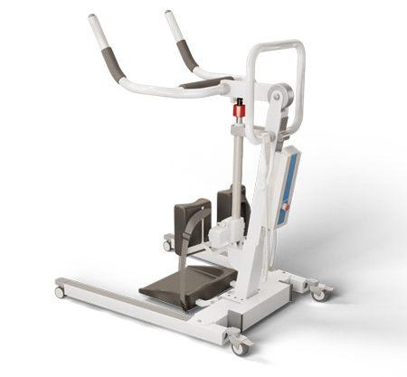 Apoiar os esforços de reabilitação com elevadores, ou guinchos para pacientes, para sentar e levantar confiáveis