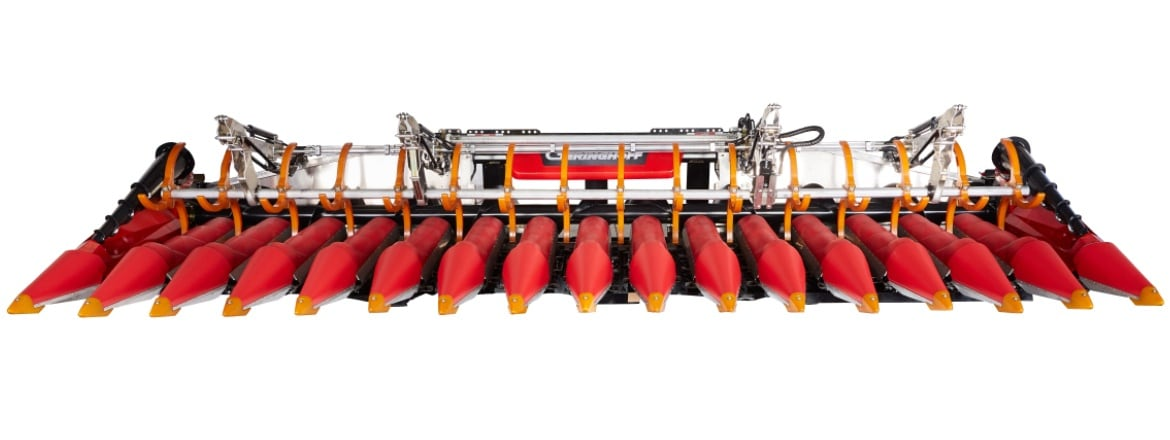 Electrify picking plates in harvesters to maximise crop output