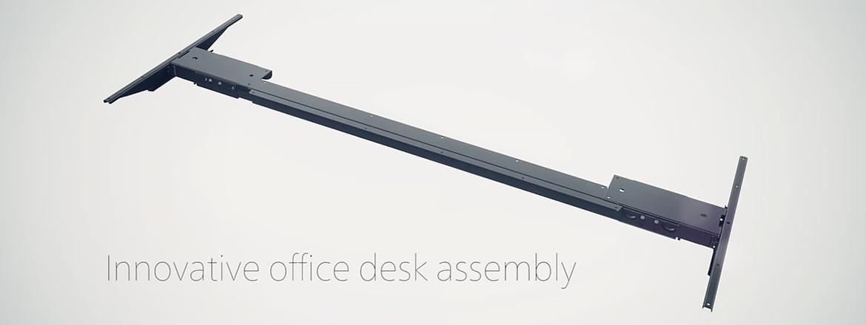 Inovadora montagem de mesa de escritório com Kick and Click