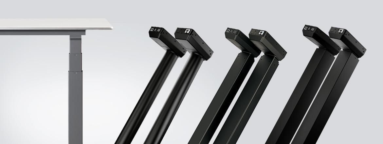 LINAK presenta nove nuove colonne di sollevamento con controllo integrato per scrivanie regolabili in altezza
