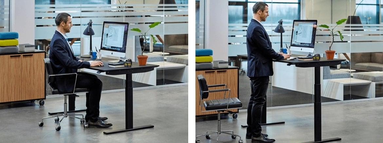 Un nuovo modo di regolare le scrivanie sit-stand con la serie di pannelli sottopiano DPG