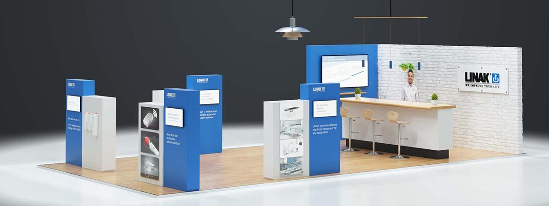 Sala de exposiciones LINAK de productos MEDLINE & CARELINE