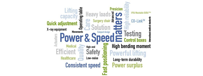 Potência e velocidade criando movimentação eficaz em hospitais