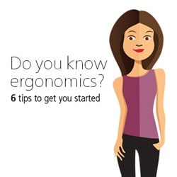 6 tips for an ergonomically better working day
