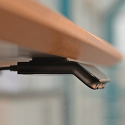 Adjust your office desk with a gentle nudge