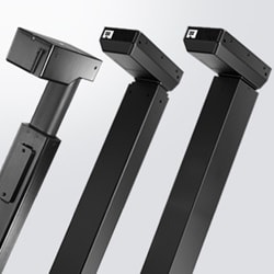 New lifting column DL19 for workstations is a 1,200N push in a smooth design