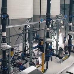 電動シリンダーがバルブを開閉することにより、廃水処理プロセスを最適化します。